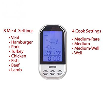 Food Thermometer Digital Probe termometro BBQ Temperature sensor Wireless Remote Control outdoor indoor Barbecue Timer -