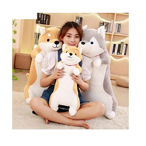 (JV Ltd. 1pc 60cm Cute Dog Plush Toys Soft Kawaii Animal Cartoon Dog Stuffed Plush Sofa Pillow Lovely for Kids (Gray))