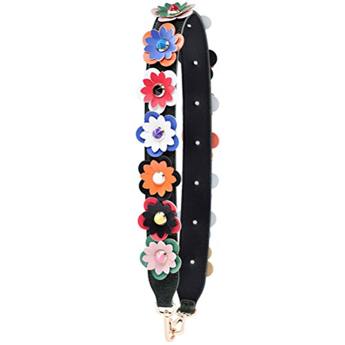 Strap Rivet Flower Leather Handbag Donalworld Strap Wide B PU Replacement qgFZZU