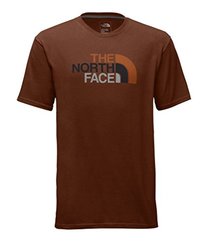 - The North Face Men's Short Sleeve Half Dome Tee - Brandy Brown & Autumnal Orange Multi - L (Past Season)