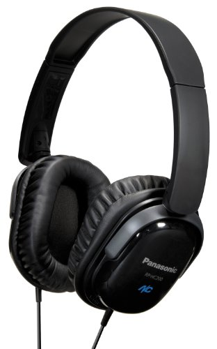 Panasonic RP-HC200E-K Noise Cancelling Headphones - Black