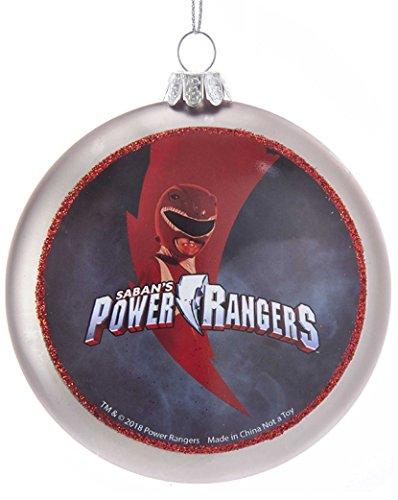 Kurt S. Adler 100MM Double-Sided Power Rangers Glass Disc Ornament -