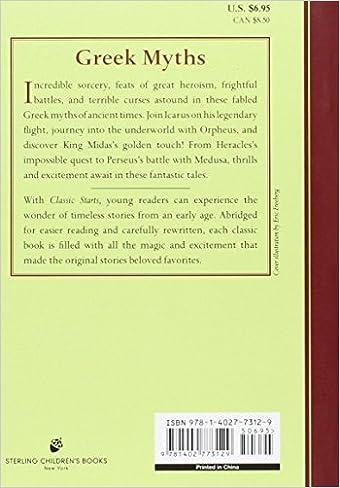 Classic Starts™: Greek Myths (Classic StartsTM Series): Diane Namm ...