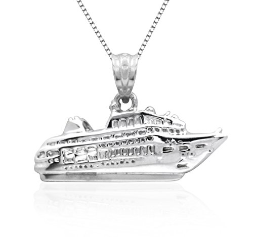 Honolulu Jewelry Company Sterling Silver Cruise Ship Necklace Pendant with 18