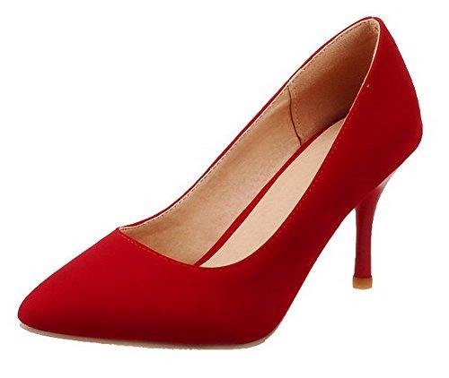 Ballerine Tirare Plastica Donna Puro A Alto VogueZone009 Punta Scarpe Rosso Tacco pz4wx0