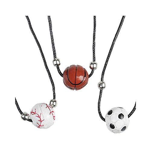 Polyresin Sport Ball Necklaces by Bargain World