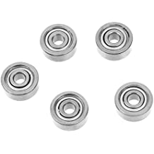 Amico s15052700am0253 uxcell 5 Pcs Double Sealed 3 x 10 x 4mm Deep Groove Ball Bearings 623Z