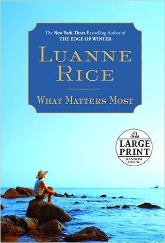 Télécharger le format pdf gratuit de google books What Matters Most (Random House Large Print) en français FB2 0739327275 by Luanne Rice