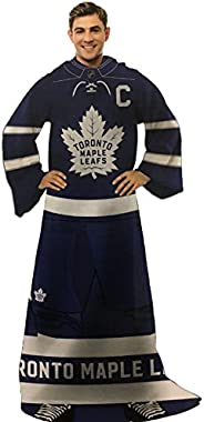 NHL Toronto Maple Leafs Blanket with Sleeves - Toronto Maple Leafs Comfy Throw Blanket