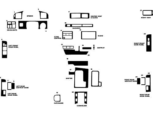 Toyota Wood Kits Dash (Rdash Dash Kit Decal Trim for Toyota Land Cruiser 1995-1997 - Wood Grain (Burlwood Honey))