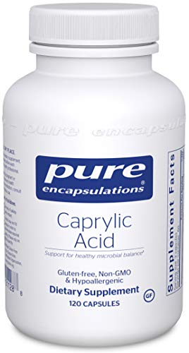 Pure Encapsulations - Caprylic Acid - Gradual Release, Buffered Caprylic Acid, Providing Optimal Support for Healthy Microbial Balance* - 120 Capsules