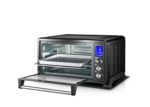 Toshiba oven with Convection/Toast/Bake/Broil Function Bread/12-Inch Pizza Black Steel