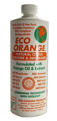 Eco Orange 32-Ounce Concentrate. Strongest All-Natural, All-Purpose Orange Citrus Cleaner. Makes 3-4 GALLONS after dilution. Non-Toxic, Allergy-Free, Eco-Friendly. Safe for Family and Pets.
