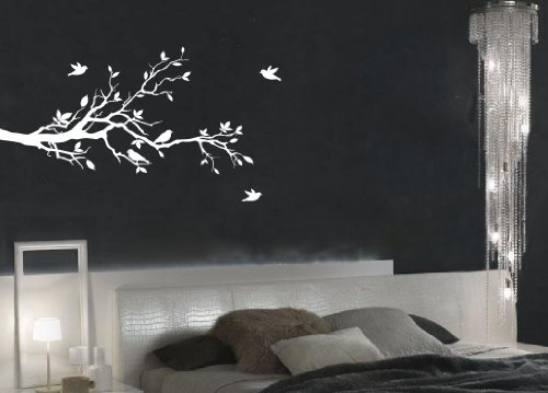 Tree Branches Wall Decal Love Birds Vinyl Sticker Nursery Leaves 56