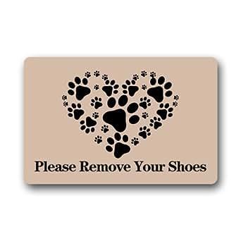 Alta calidad y nuevo Fashion Please remove your shoes Felpudo