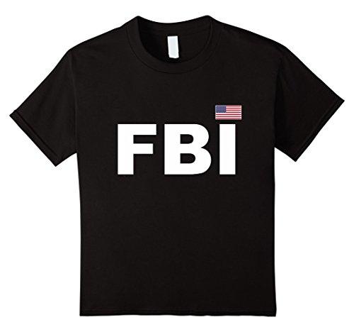 Agent Costume Vest Fbi (Kids FBI T-Shirt Guards Uniform Law Enforcement Tee 12)