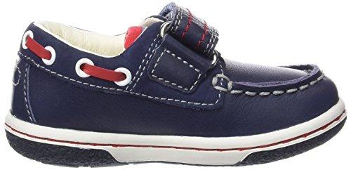 Geox B Flick Boy C, Zapatos de Primeros Pasos para Bebés Multicolor (Navy / Red)