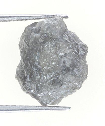 9.75 Carat Silver Grayish Color Raw Uncut Natural Rough Diamond by Kakadiya Group