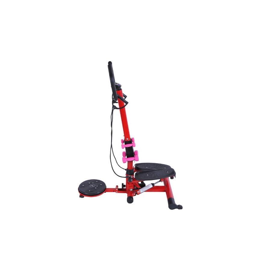 Soozier Aerobic Waist Twister/Stepper Fitness Machine w/Dumbbells