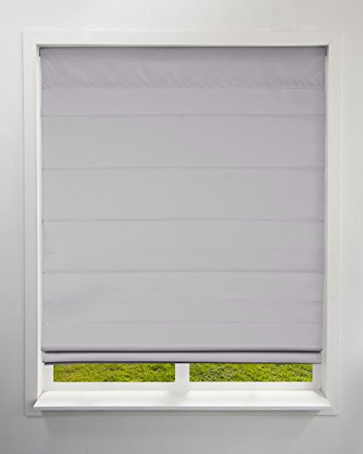 Arlo Blinds Thermal Room Darkening Fabric Roman Shades, Color: Grey, Size: 34.5