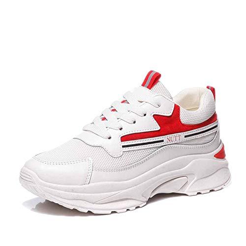 Cordones Deportivas Zapatillas Carretera Disruptor Retro Mocasines Red Deporte Con De Chunky Para Mujer P5Owr4Pqn