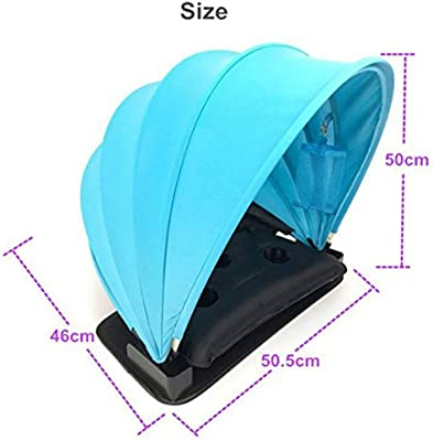 Fairylove Pop Up Portable Mini Personal Beach Sun Shelter Half Open Sun Shade Canopy Head Face Sun Shade Protection Tent with Air Inflatable Pillow Water Injection Cushion Pillow