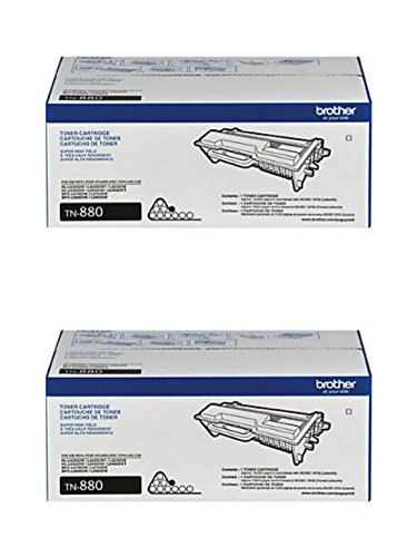 Brother Genuine TN-880 (TN880) Super High Yield Black Laser Toner Cartridge 2-Pack