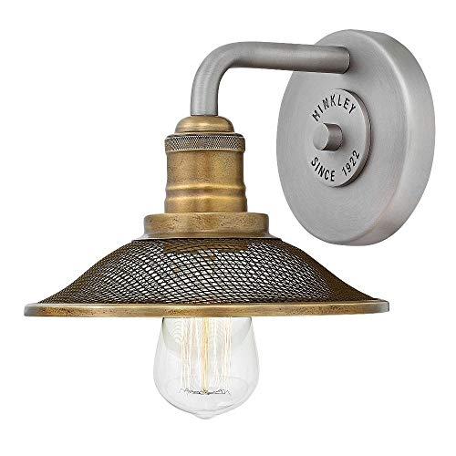 Hinkley 5290AN Rigby Wall Sconce, 1-Light 100 Watts, Antique Nickel from Hinkley