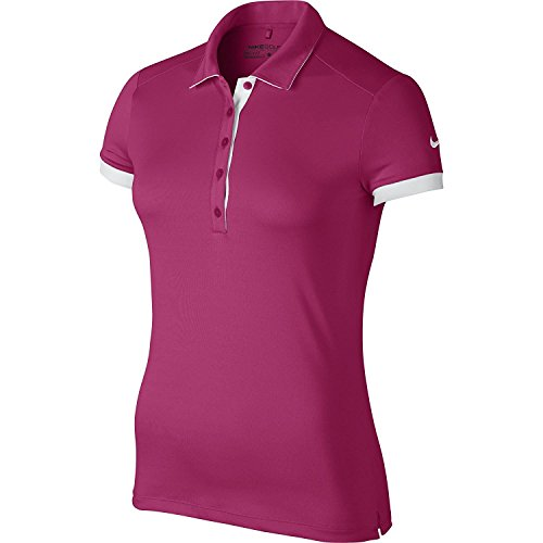 Nike Golf Womens Victory Colorblock Polo Vivid Pink/White