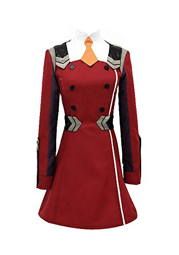 Wish Costume Shop Darling in The FRANXX Uniform Zero Two Cosplay Costume (XXL, Red)]()