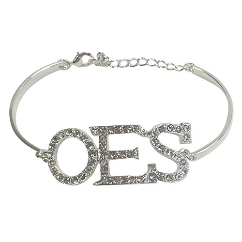 Fraternal Jewelry (Order of the Eastern Star OES F1280s Austrian Crystal Bracelet in Silver Fraternal Organization Greek)