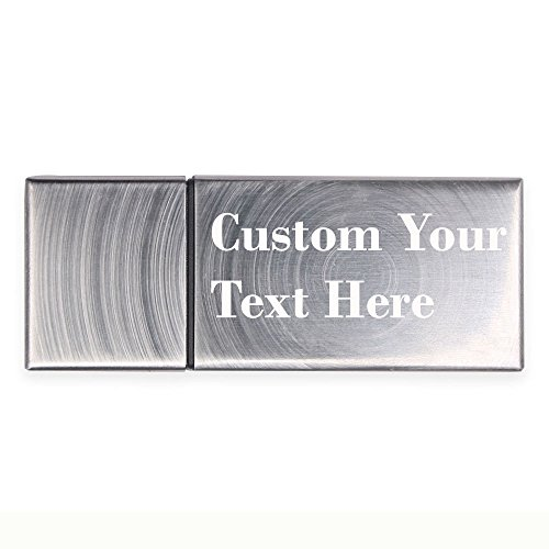 DIY Custom Laser Engraved Metal Cuboid 4GB USB Flash Memory Disk Pen Drive