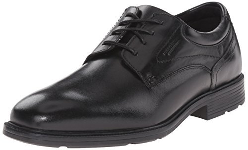 Rockport Mens Style Future Waterproof Plain Toe Oxford, Black Leather