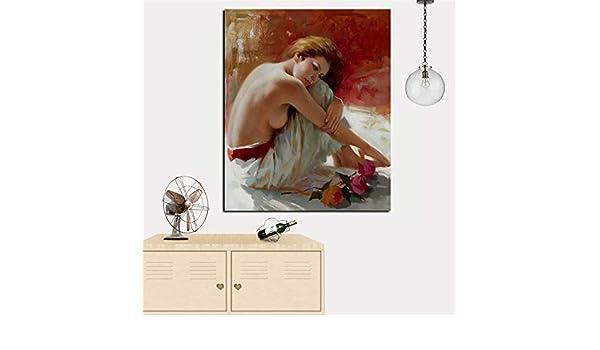 RTCKF Sexy Mujer Desnuda Retrato Pintura al óleo HD Imprimir ...