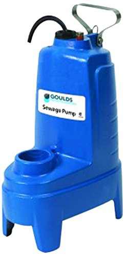 Cast Iron 4//10 hp 230V GOULDS PUMPS PS42P1F Sewage Pump with Float Switch
