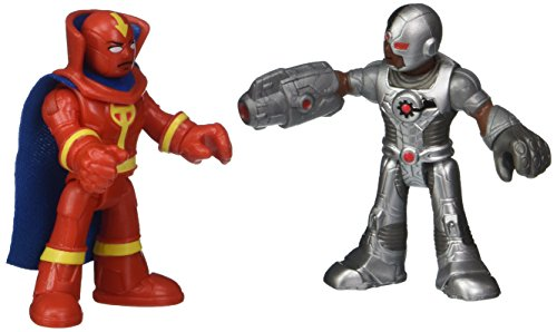 Fisher Price Imaginext Justice League Cyborg & Red Tornado Figure Set