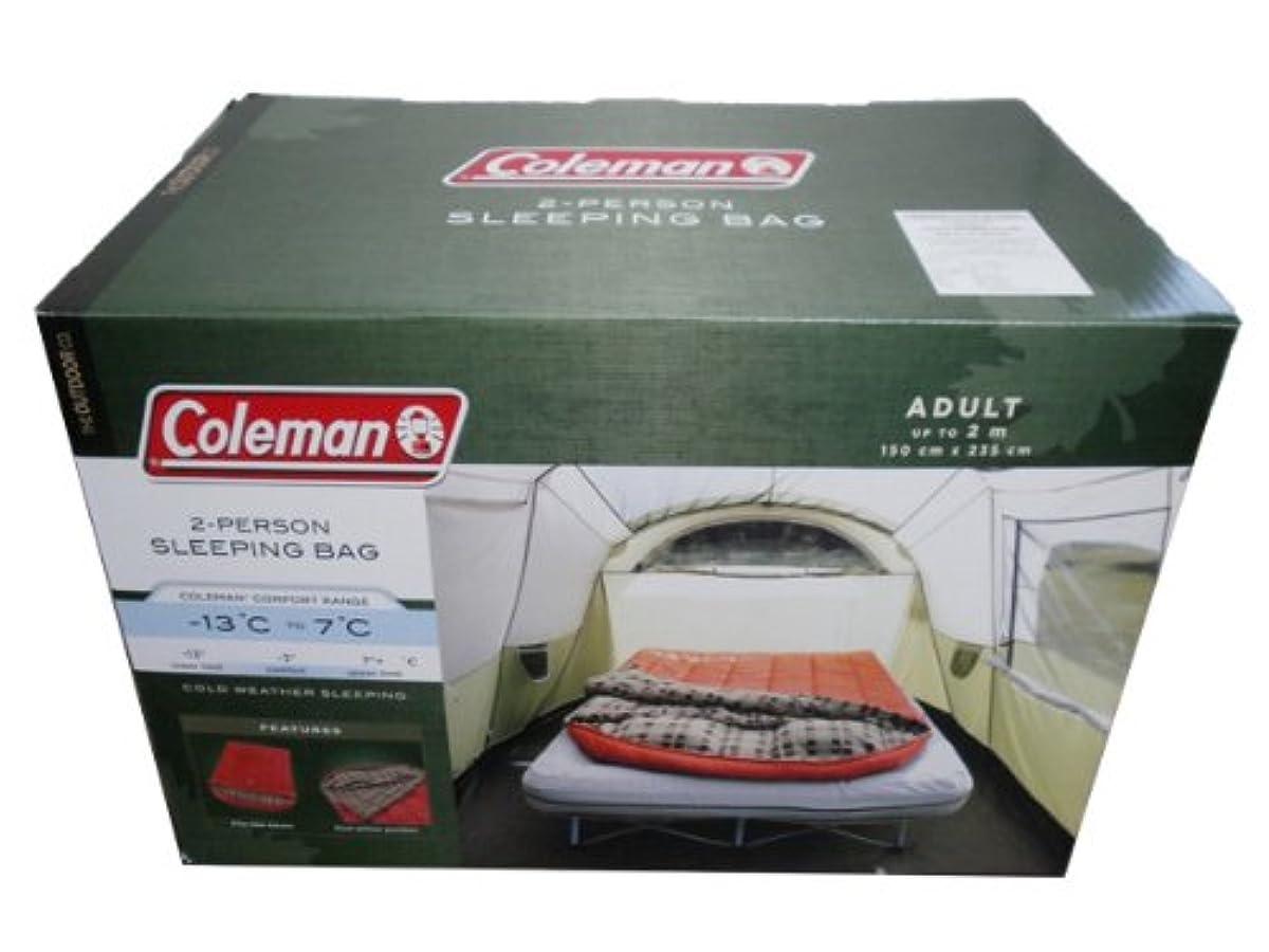 [해외] COLEMAN 콜맨 두 명용 슬리핑 화이트 침낭 -13℃부터 7℃ 150×235CM 2-PERSON SLEEPING BAG MODEL:2000012600