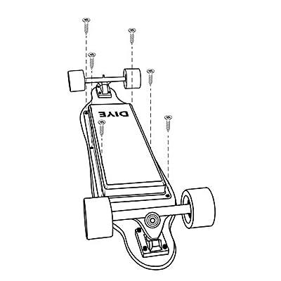 DIYE Electric Skateboard Battery & Electronics Customizable & Scratch-Proof Battery Enclosure : Sports & Outdoors