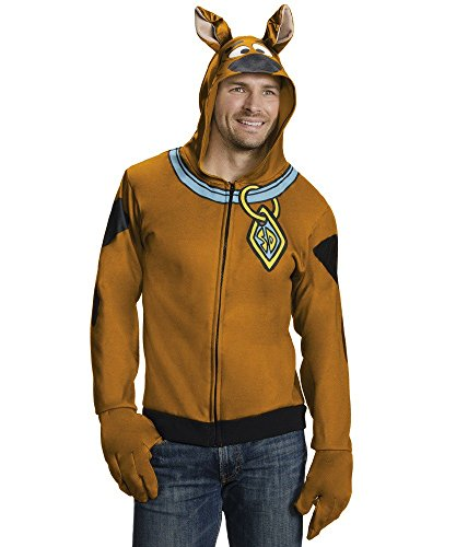 Rubie's Costume Co Men's Scooby Doo Hoodie, Brown, X-Large (Scooby Doo Costumes For Adults)