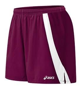ASICS Women's Intensity Shorts, Maroon/White, Medium
