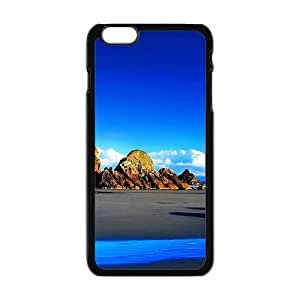 Blue Sky And Mountains Black Phone Case for Iphone6 plus