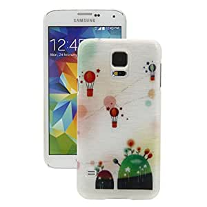 Fire Balloon Colorful Drawing Lines Plastic shield Case for Samsung S5 i9600