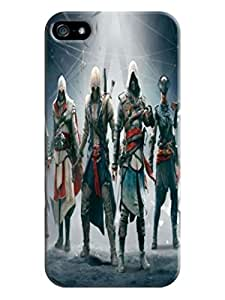 Colorful cartoon tpu phone case cover with texture for iphone 5/5s of Assassin's Creed in Fashion E-Mall