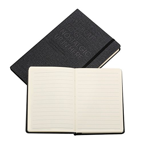 Classic Notebook Journals, Subject Notebook, Hardcover, College Ruled + Grid Page, Inner Pocket, A5 A6 Size, 240 Pages,2 Pack - Black Color by Heeton (Image #3)