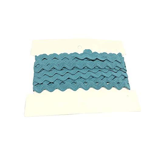 Rick Rack Trim 12mm Width Polyester Baby Ric Rac Trim Pastel Blue, 5M per Cards