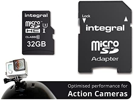 Integral Action Camera 32GB MicroSDHC UHS-I Clase 10 Memoria Flash - Tarjeta de Memoria (32 GB, MicroSDHC, Clase 10, UHS-I, 95 MB/s, Negro)