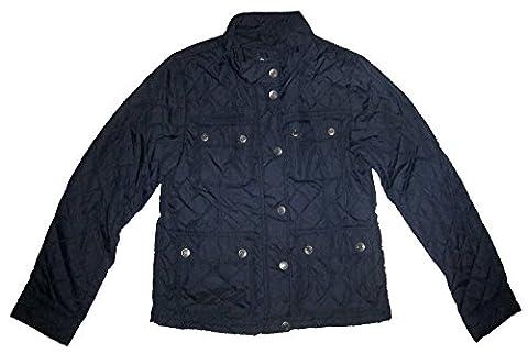 Gap Kids Girls Navy Pelo Quilted Barn Jacket XL 12 - Gap Girls Jacket