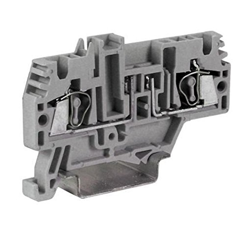 ASI HF300GR Blade Fuse Holder Spring Clamp Terminal Block for CPF05, DIN Rail Mount, 6.3 amp, 600V, 26 to 12 AWG (Pack of 80) by Automation Systems Interconnect