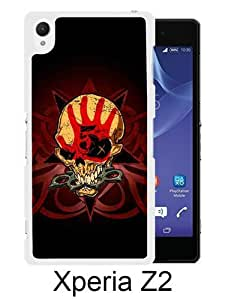 Lovely And Unique Designed Case For Sony Xperia Z2 With Five Finger Death Punch White Phone Case