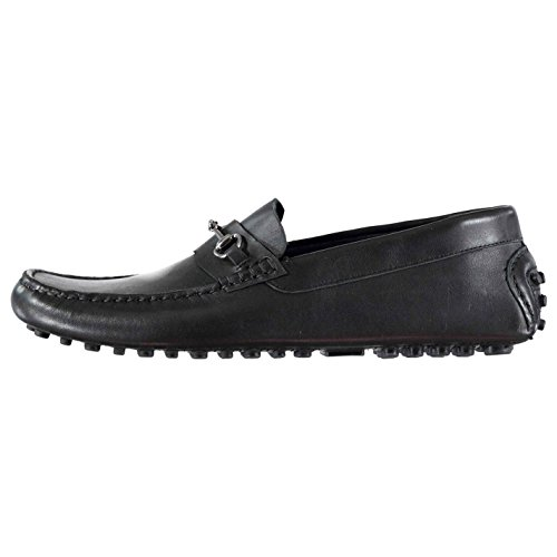 Lth Loafers Detailing Firetrap Slip Leather On Monteiro u1aYKj Shoes Black Stitched Mens SBvqwZvU4